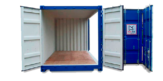 OpenSide - contenedor 40' Doble puerta