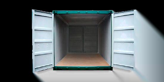 Double doors20 - contenedor 40' Doble puerta