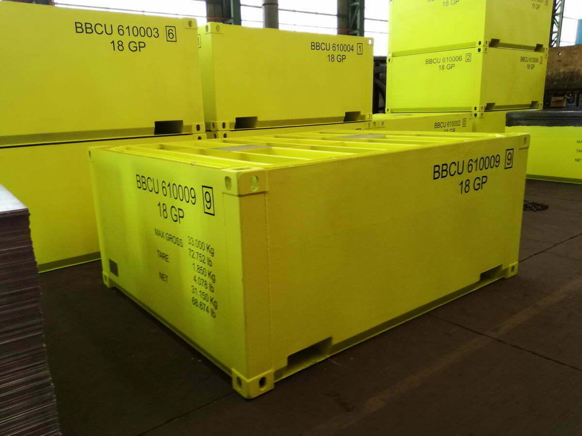bullbox contenedores baja radioactividad 11 1 - Low Radioactivity Waste Containers