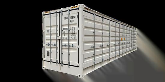 40 open side - contenedor 40' Doble puerta