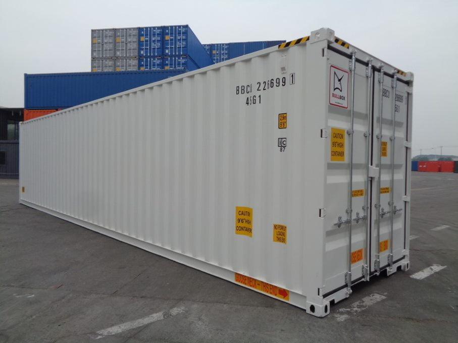40HCDD front - contenedor 40' Doble puerta