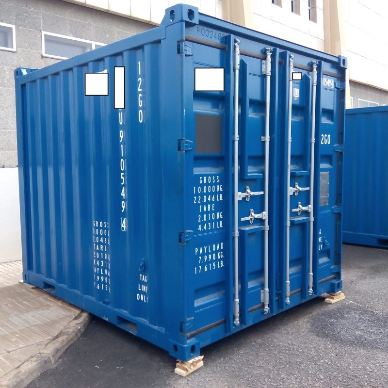 10 foot offshore container scaled p9ip9x0g7t5mxa2a62zgl6ylwhmoap0kg93d9lj4n4 - Contenedores Offshore
